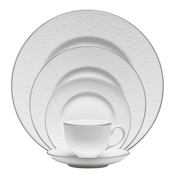 English Lace Bone China 5 Piece Place Setting, Service for 1 by Wedgwood