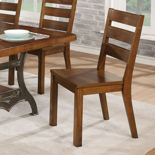 Justa Ladder Back Side Chair In Brown Cherry (Set Of 2) By Gracie Oaks