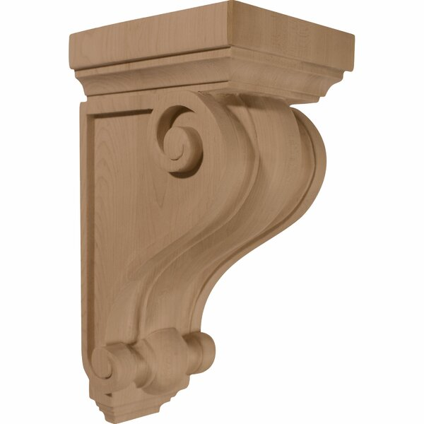 Devon  9 1/2H x 5 1/4W x 5 1/4D  Wood Corbel in Red Oak by Ekena Millwork