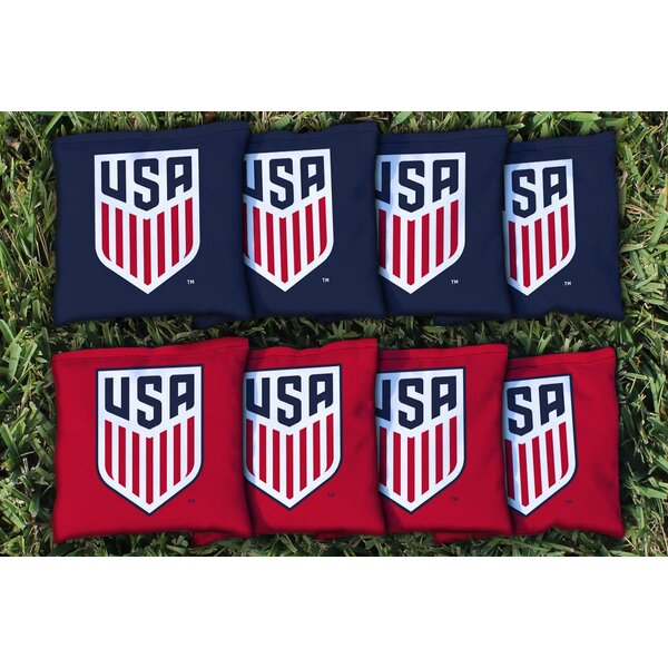 NCAA US Soccer Replacement Corn Filled Cornhole Bag Set by Victory Tailgate