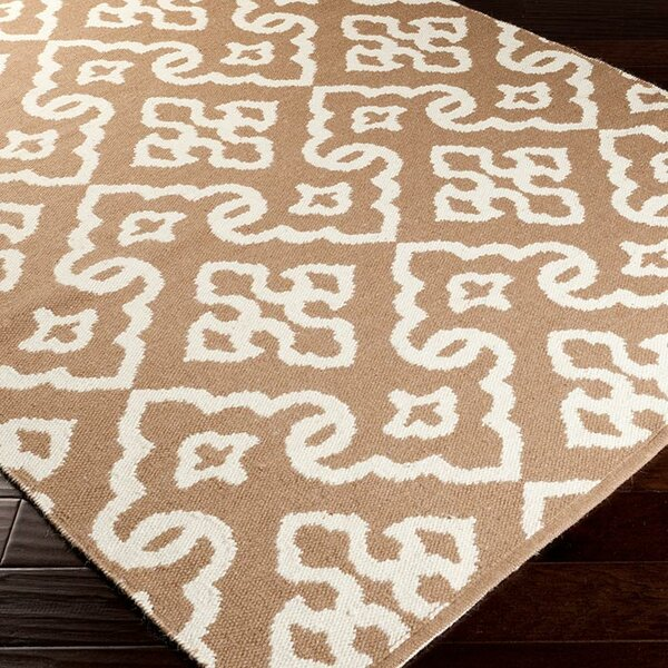 Radnor Driftwood Brown Area Rug by Charlton Home
