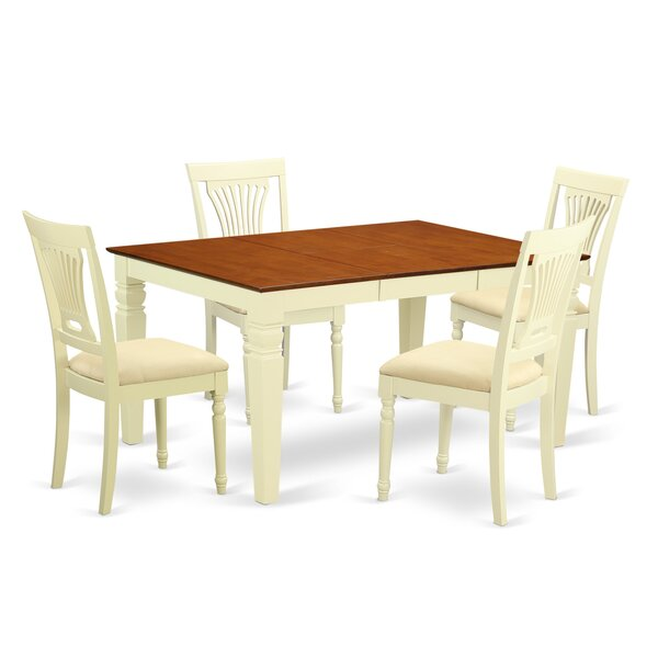 Eastham 5 Piece Dining Set by Rosecliff Heights Rosecliff Heights