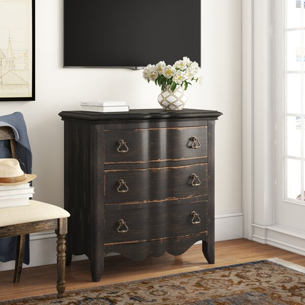 Bartow 3 Drawer Chest by Three Posts