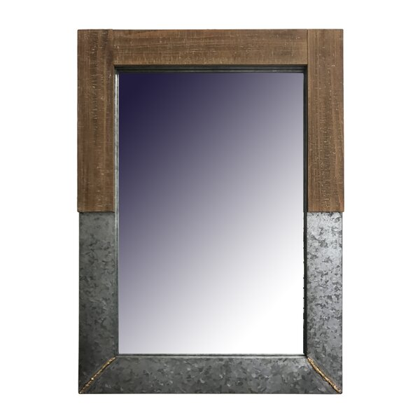 Dockett Metal with Wood Accent Mirror by Gracie Oaks