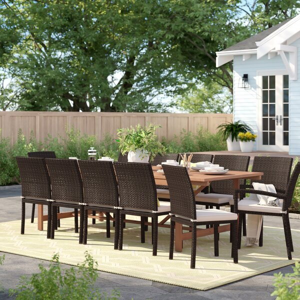 Brighton 13 Piece Dining Set with Cushions by Sol 72 Outdoor