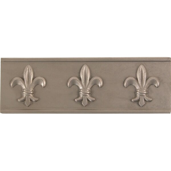 2 x 6 Metal Attractive Decorative Accent Tile in Pewter (Set of 4) by The Copper Factory