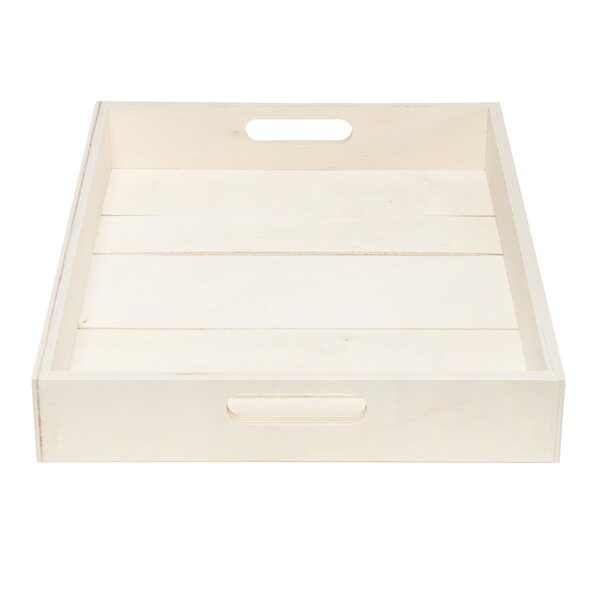 Heffron Gapped Wood Serving Tray by Highland Dunes