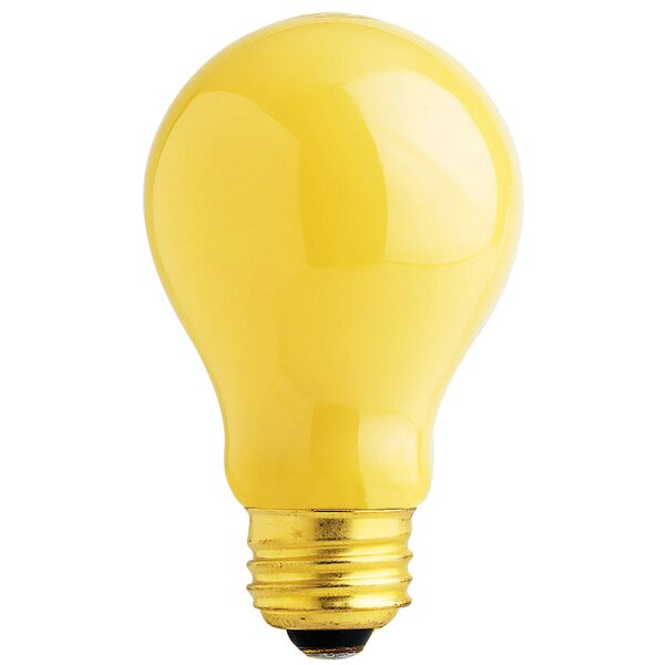 60W Yellow 130-Volt Incandescent Light Bulb (Pack of 2) by FeitElectric