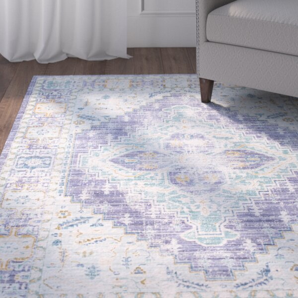 Fields Bright Purple/Mint Area Rug by Mistana