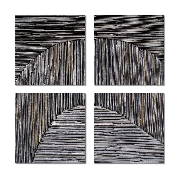 6 x 6 Beveled Glass Field Tile in Dark Gray by Upscale Designs by EMA
