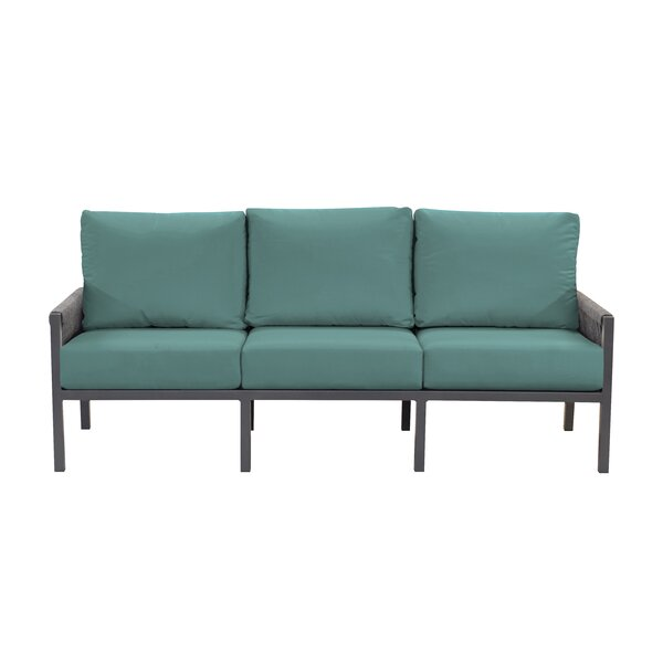 Chipps Patio Sofa with Sunbrella Cushions by Brayden Studio