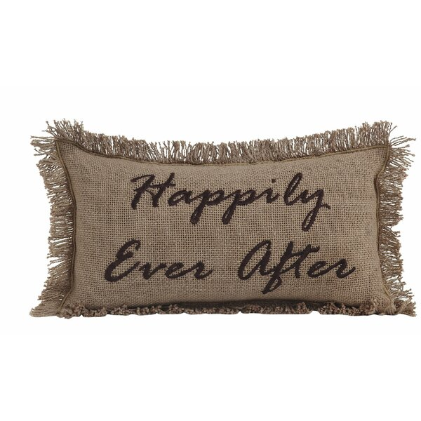 Burlap Happily Ever After Cotton Lumbar Throw Pillow by August Grove
