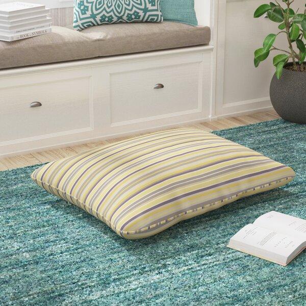 Duke Vintage Stripe Piped Indoor/Outdoor Sunbrella Floor Pillow by Latitude Run