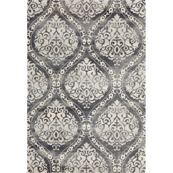 Demonte Charcoal Gray Area Rug by Ophelia & Co.