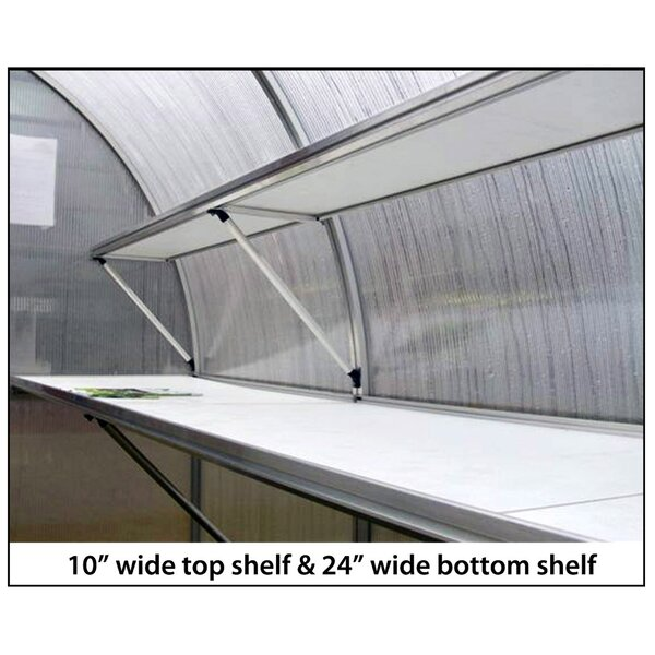Riga IV Greenhouse Bottom Shelf by Hoklartherm