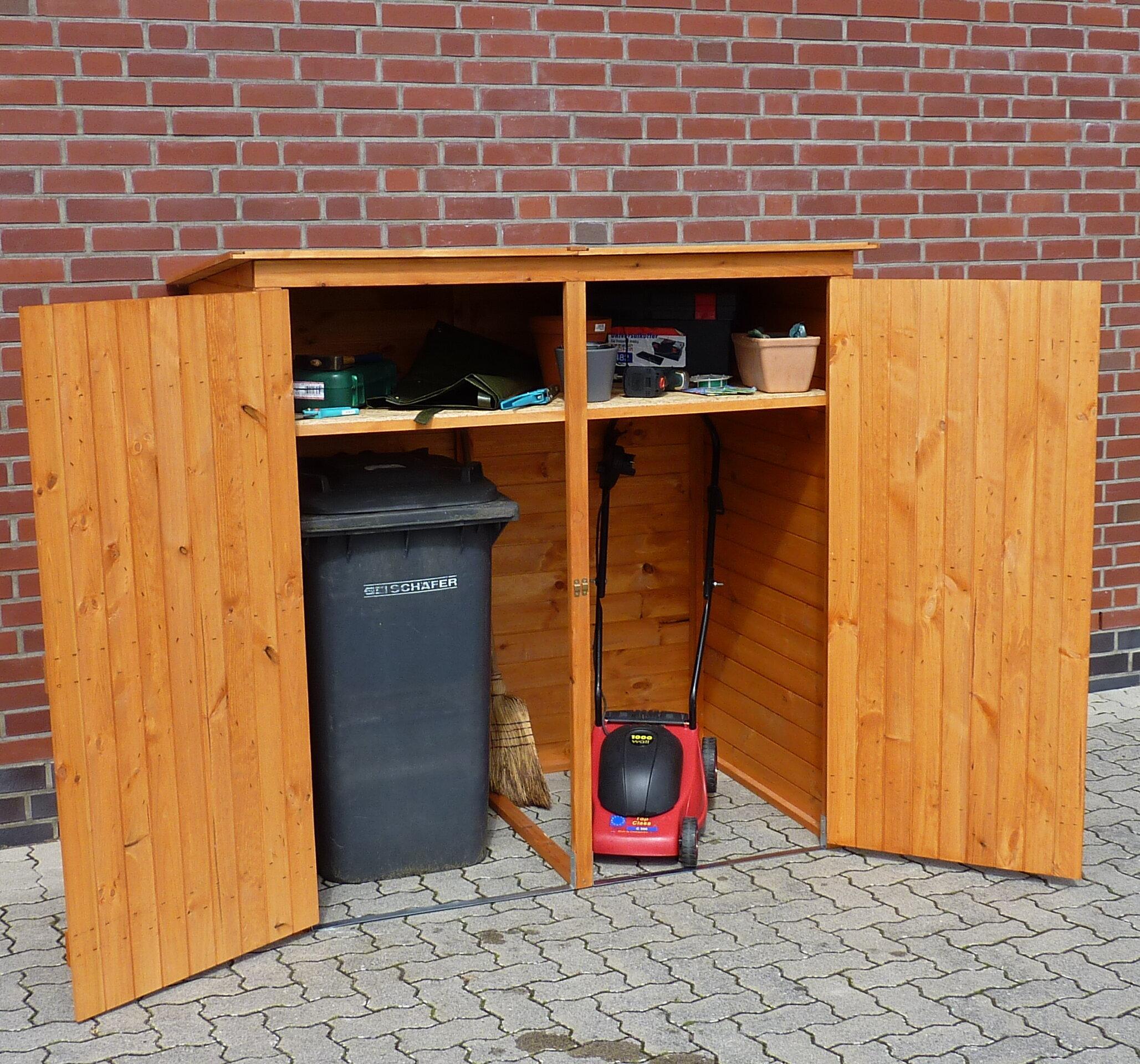 dcor design 163 x 166 cm mülltonnenbox aus holz | wayfair.de