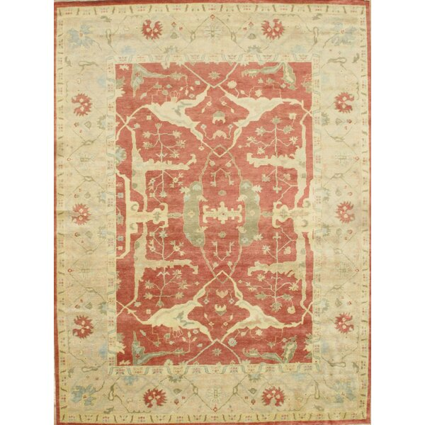 Hand-Knotted Wool Rust/Ivory Area Rug by Pasargad NY