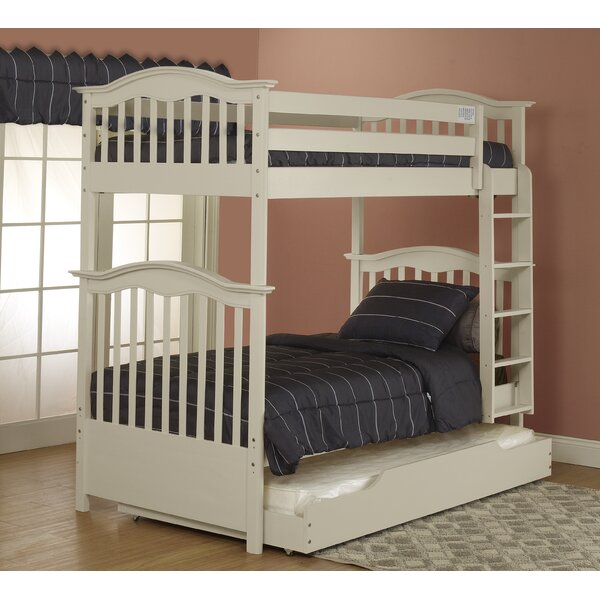 Twin over Twin Bunk Bed with Trundle by Orbelle Trading