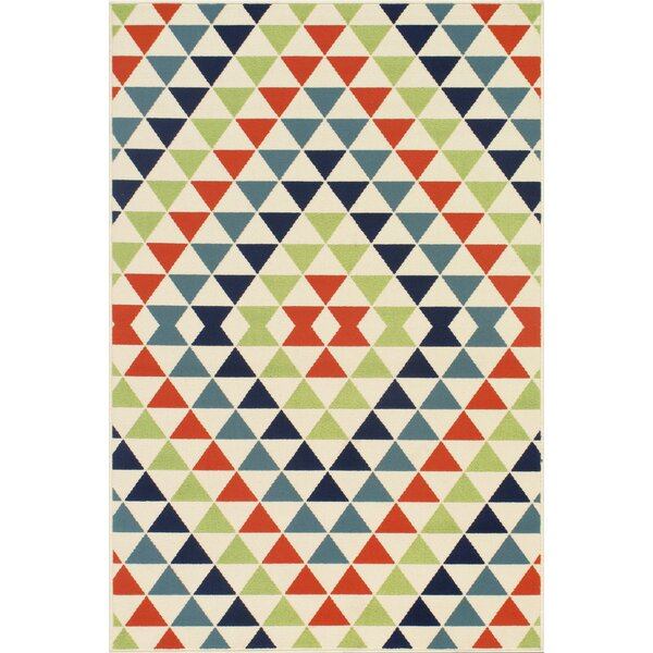 Bourgeois Hand-Woven Blue/Green/Red Indoor/Outdoor Area Rug by Wrought Studio