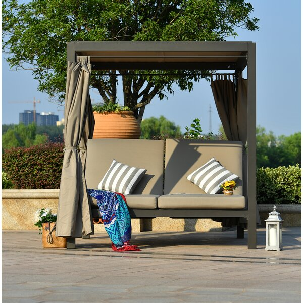 Aaron Patio Daybed with Cushion by Brayden Studio