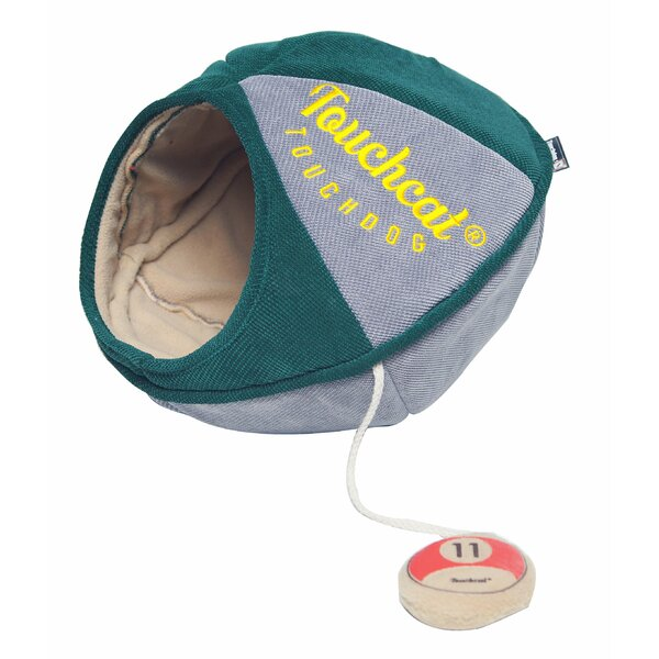 Touchcat Saucer Oval Collapsible Walk-Through Pet Cat Bed House With Play Active Toy by Pet Life