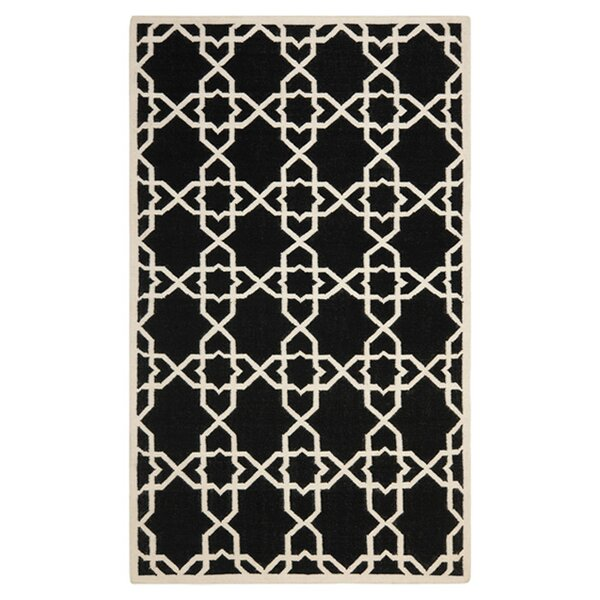 Dhurries Black Area Rug by Safavieh
