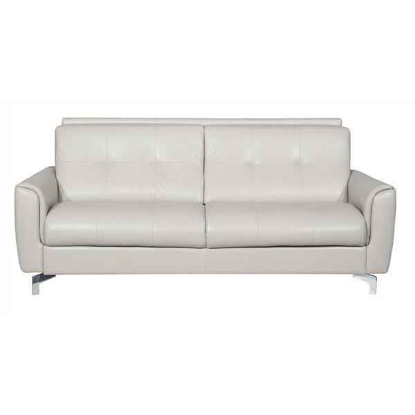 Bensonhurst Leather Sleeper Sofa by Latitude Run