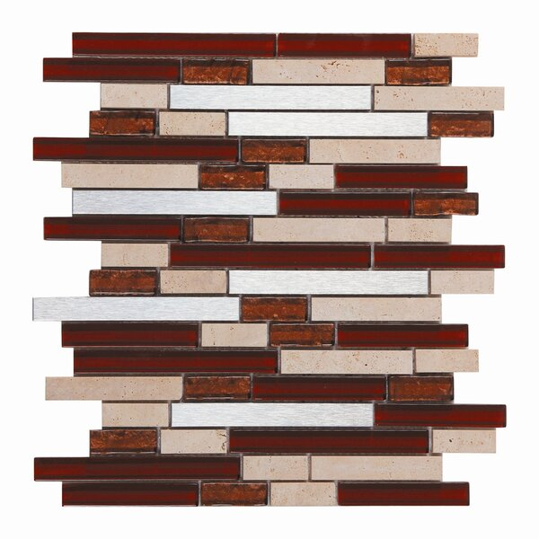 Upscale Design Random Sized Glass and Natural Stone Mosaic Tile in 3 Color Blend by Instant Mosaic