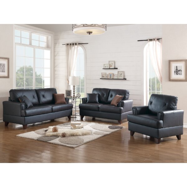 Douberly 3 Piece Living Room Set by Gracie Oaks