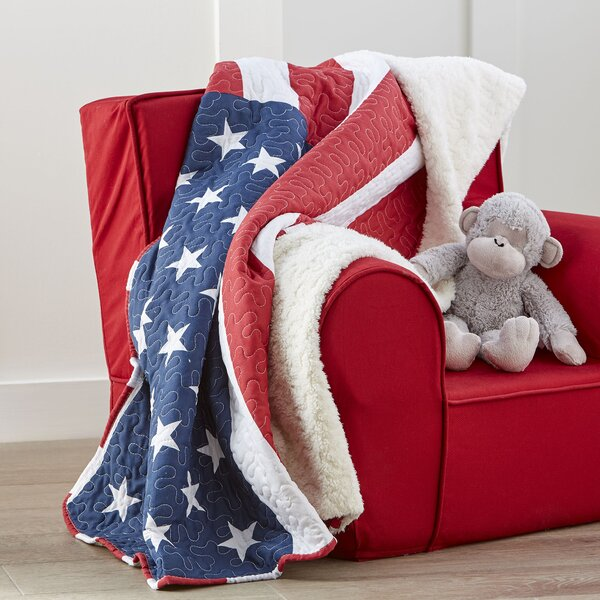 Grand Old Flag Quilted Throw by Birch Lane Kids™