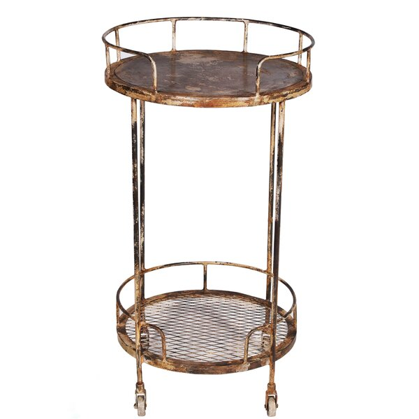 Kahler 2-Tier Bar Cart by World Menagerie