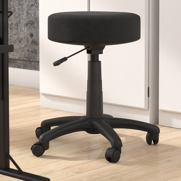 Darryl Adjustable Height Stool with Cushion by Zipcode Design