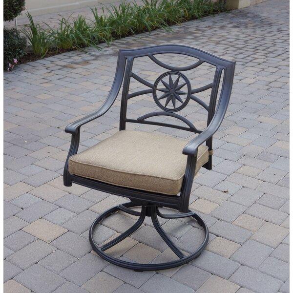 Lenzburg Swivel Patio Dining Chair with Cushion by Alcott Hill