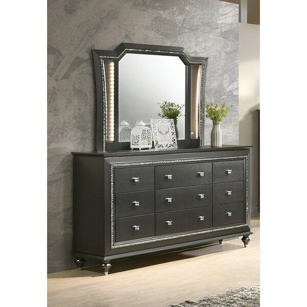 Webber 9 Drawer Dresser with Mirror by Rosdorf Park