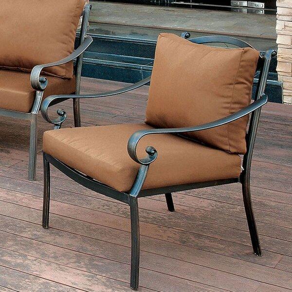 Villalobos Patio Chair with Cushion by Fleur De Lis Living