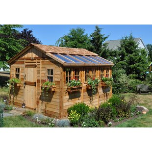 10x12 wood shed wayfair