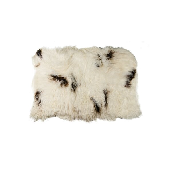 Curpin Hand-Woven Sheepskin White/Black Area Rug by Loon Peak