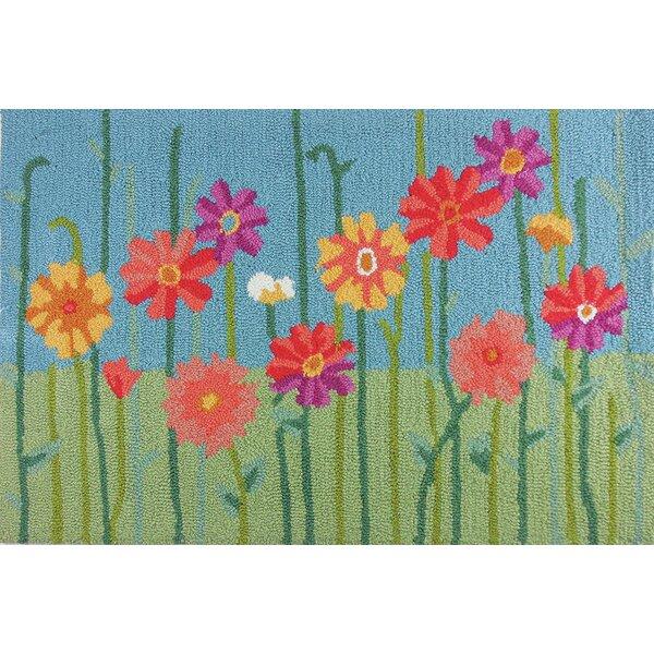 Valentine Meadow Flowers Rug by Harriet Bee
