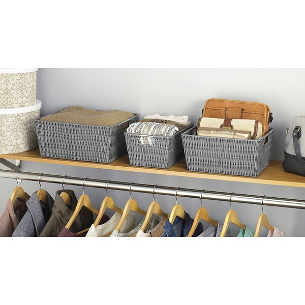 Mud Pie Rustic Vintage Inspired Nesting Set of 3 Storage Baskets Nursery Decor Off White