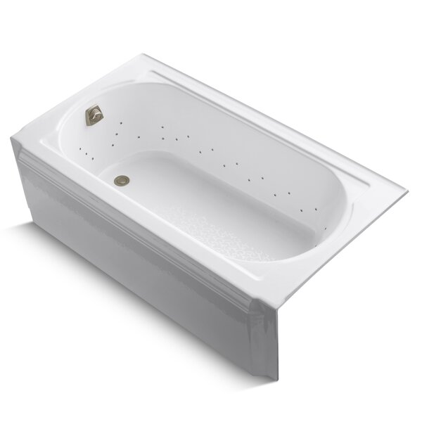 Memoirs Alcove Bubblemassage 60 x 34 Soaking Bathtub by Kohler