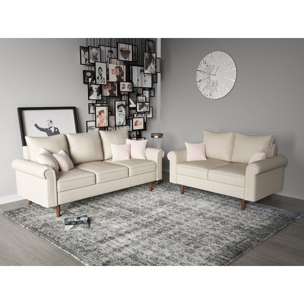 Read Reviews Cyr 2 Piece Living Room Set by Wrought Studio