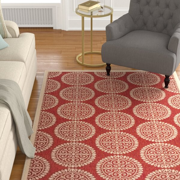 Karpinski Blue/Cream Area Rug by Charlton Home