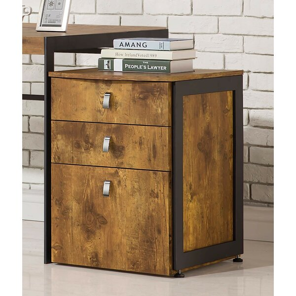 Plymouth 3-Drawer Vertical Filing Cabinet by Union Rustic