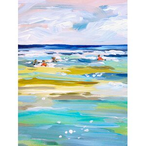 'Ocean Swim' Print on Wrapped Canvas by Bay Isle Home