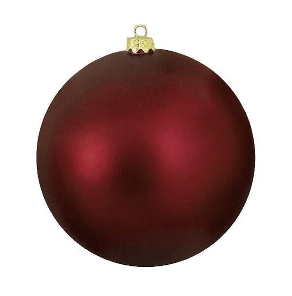 Shatterproof Matte Christmas Ball Ornament by The Holiday Aisle