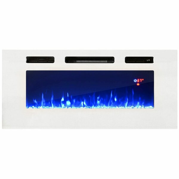 Johna Recessed Wall Mounted Electric Fireplace Insert By Orren Ellis