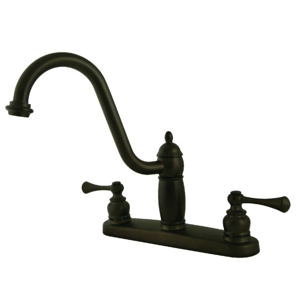 Heritage Centerset Double Handle Kitchen Faucet by Kingston Brass