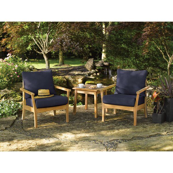 Huggins 3 Piece Conversation Set with Cushions by Highland Dunes