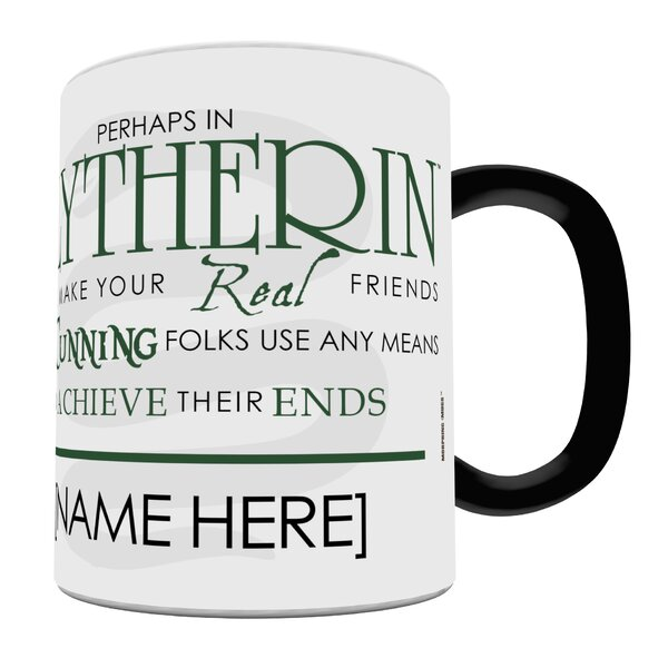 Harry Potter Sorting Hat Slytherin Personalized Heat Sensitive Coffee Mug by Morphing Mugs