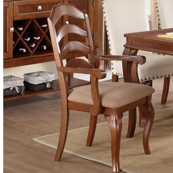 Rowles Ladder Rubber Wood Armchair (Set of 2) by Charlton Home
